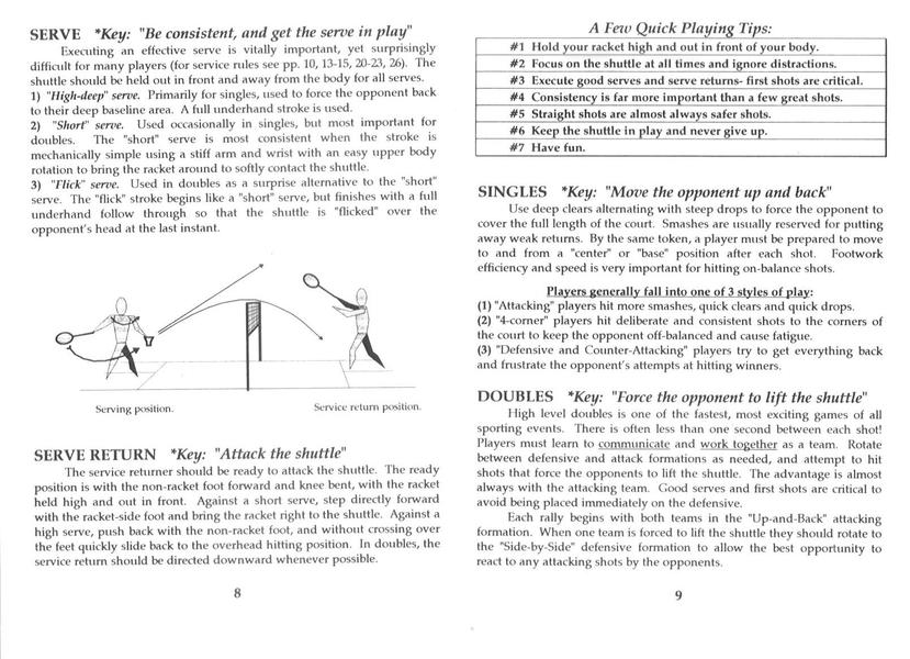 rules and regulation of badminton A simple explanation of badminton rules contains everything a complete needs to get started playing badminton.